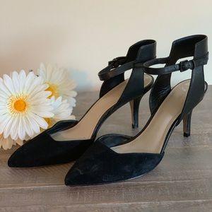 Pour La Victoire leather/suede pump.